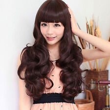 Fashion Sexy Women's Cosplay Party Long Full Hair Wavy Curly Wigs Brown/Black