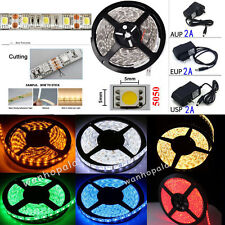 5M 300LED SMD 5050 RGB/White Flexible Strip Light+Remote+Power Supply Home Decor