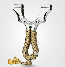 Hunting Slingshots stainless steel Slingshot Bow Catapult Outdoor Game Bowsling