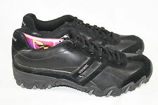 WOMENS SKECHERS USA BLACK LACE UP SHOES - SEE LISTING FOR SIZE (2169)