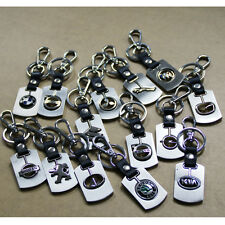 Auto Metal Key Chain Car Double Side Logo Pendant Keyfob Holder Key Ring Keyring