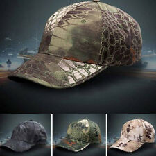 Men Camouflage Military Adjustable Hat Camo Hunting Fishing Army Baseball Cap WS
