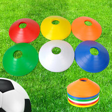 5/10Pcs Sport Football Soccer Speed Training Disc Cone Cross Track Space Marker