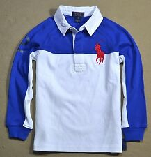 NWT BOYS KIDS POLO RALPH LAUREN COLORBLOCK BIG PONY RUGBY POLO SHIRT SZ 4, S (8)