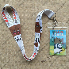 Cartoon TV We Bare Bears Neck Strap Lanyard ID Badge Anime Charms Key Chain Gift