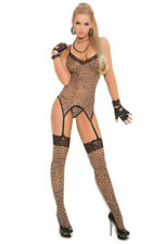 Sexy leopard 3 piece stocking gstring cami set