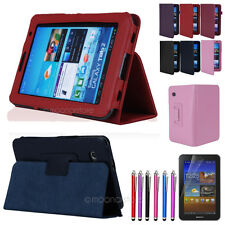 """Protective Holder Folio Case Cover Stand For Samsung Galaxy Tab 2 7.0 7"""" P3100"""