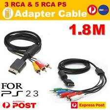 TV AV RCA Video & Audio Cable Lead Cord for SONY Playstation 1 2 3 PS1 PS2 PS3