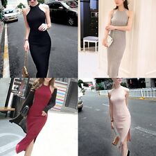Girl Women Sleeveless Bodycon Pencil Dress Cocktail Evening Party Long Dress AU