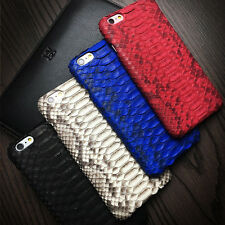 Real Genuine Python Snake Skin Leather Cover Case For iPhone 7 6 6S Plus