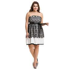 Womens Summer Sexy Lace Tube Dress Plus Size Off Shoulder Party Dress New Trendy