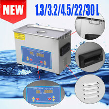 Stainless Steel 1.3~30Liter Industry Heat Ultrasonic Cleaner Heater w/Timer EK