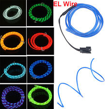 Neon Chasing Rope Light EL Wire Strip String Light Flexible Wire 3V/12V Control
