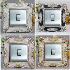 Square Acrylic Single Light Switch Surround Socket Finger Plate Panel Cover