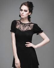 Devil Fashion Goth Gothic Fetish Danu Tunic Top Corset Lacing Lace Short Sleeve