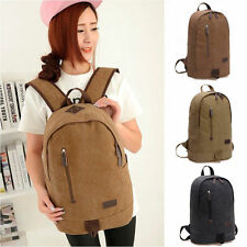 Women's Men Backpack Canvas School Rucksack Satchel Shoulder Bag Travel 43c