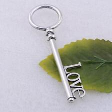 Wholesale Tibet Silver Love Key Charm Pendant DIY Jewelry Making Crafts 83x19mm