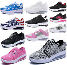 Ladies Girls Mesh Sports Trainers Shape Step Up Toning Walking Gym Fitness Shoes