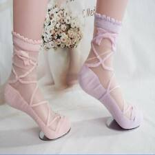 1 Pair Lady Princess Girl Sheer Mesh Bow Knit Lace Frill Trim Ankle Socks New