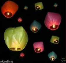 10pcs mix color Wish Lanterns Chinese Paper Sky Wedding Flying Party Decoration