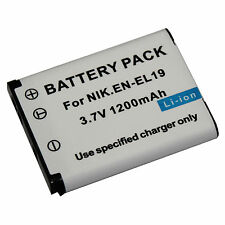 1200mAh Battery / Charger Kit for NIKON EN-EL19 ENEL19 Coolpix S2500 S3100 S4100