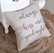 Pillow Cover Always Kiss  Throw Cushion Embroidered Pillow case Decorative