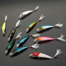 9cm/7.2g Minnow Fishing Lure Crankbait Fishing Bait Fishing Tackle Feather Lure