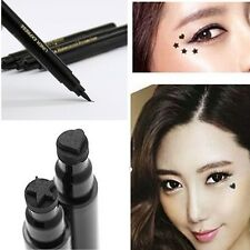 Waterproof Eyeliner Liquid Eye Liner Pen Makeup Cosmetic Heart/Star Nib Pencil v