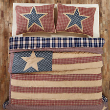 4-pc INDEPENDENCE Quilt Set Patriotic Patchwork TWIN QUEEN CAL KING Price Match