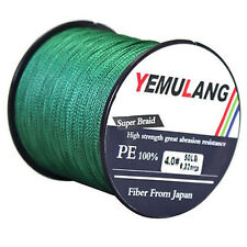 PE Fishing Line Spectra Dyneema Sports Braid Line Yellow Green100 300 500 1000M