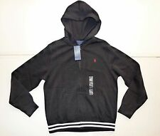 NWT $59.50 BOYS Ralph Lauren Polo Black Hooded Sweater
