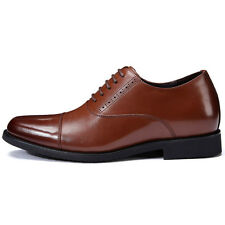 Formal Height Increasing Dressy Shoes Get Tall 2.7inch Leather Elevator Oxfords