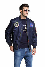 NEW MA-1 NASA letterman varsity american ollege bomber flight jacket for men