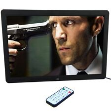 15inch LED HD High Resolution Digital Picture Photo Frame + Remote Controller F7