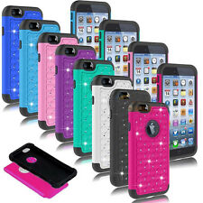 Hybrid Crystal Rubber Bling Protective Hard Case Cover For Apple iPhone Models