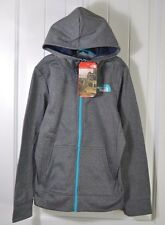 NWT GIRLS THE NORTH FACE MEDIUM GRAY SURGENT FULL ZIP HOODIE JACKET SZ M (10/12)