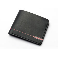 Men Leather ID Credit Card Holder Clutch Bifold Coin Zipper Purse Wallet Pockets