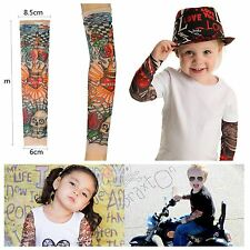 Cool Nylon Stretchy Child Kid Temporary Tattoo Sleeves Sun Block Arm Stockings