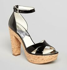 NEW MSRP $145 - MICHAEL Michael Kors Camilla Platform Sandals, High Heels, BLACK