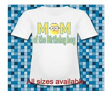 Despicable me Minion Mom of the Birthday Boy T Shirt All sizes and sayings
