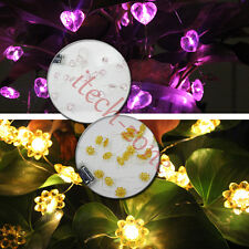 20LED 2M String Battery Operated Copper Silver Wire Fairy Light Xmas Party Decor