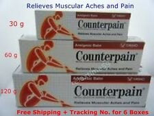 Counterpain Analgesic Balm Hot Cream Relief Mucle Pain Back Aches Sprains