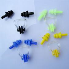 Swim Swimming Nose Clip Silicone Earplugs Water Sports Set