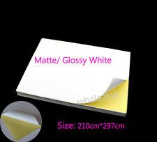 80 Sheets Glossy Matt A4 Paper Self Adhesive Label Sticker Laser Inkjet Printing