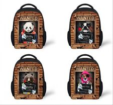 3D Kindergarten Student Shoulders School Bag Kid Travel Backpack Child Rucksack