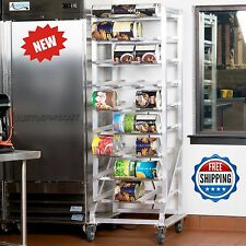 NSF Full Size Sturdy Mobile Aluminum Can Food Restaurant Rack for  #10 & #5 Cans