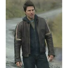 Tom Cruise War of the Worlds Real Leather Jacket - 100% MONEY BACK GUARANTEE!!!