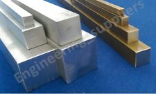 "Aluminium & Brass Square Rod Bar 3/16, 1/4, 3/8, 5/8, 1/2 & 1"" 100 - 600mm long"