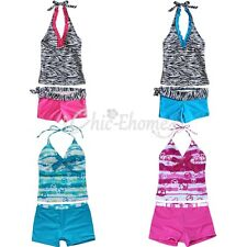 Toddler Baby Kid Girls Bikini Tankini two 2-piece Swimsuit Bathing Suit Swimwear
