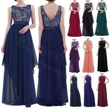 Women Lace Boho Long Maxi Evening Party Dress Chiffon Cocktail Dress Costume HOT